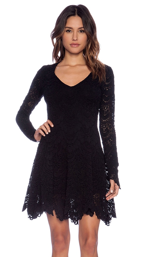 Spanish Lace Fit and Flare Dress