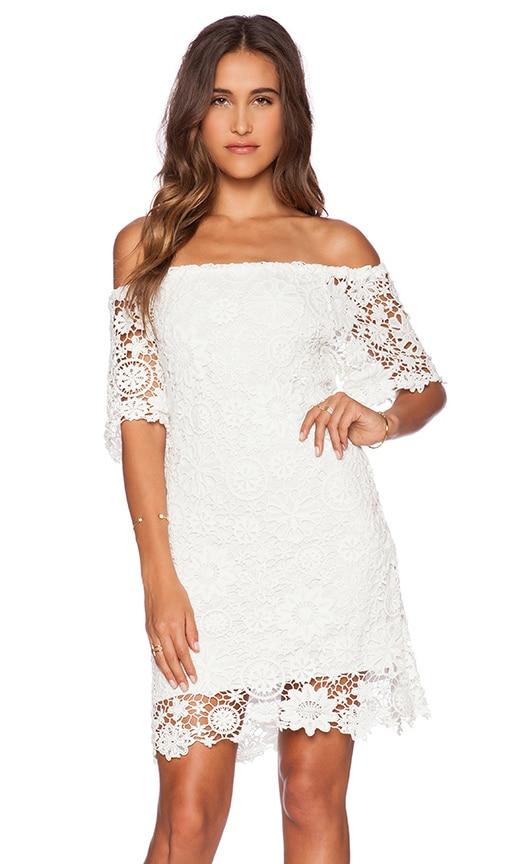 Caribbean Crochet Off Shoulder Dress