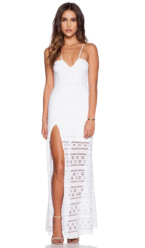 Cherokee Stripe High Slit Maxi Dress