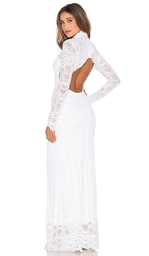 Nightcap Classic Victorian Lace Gown in White