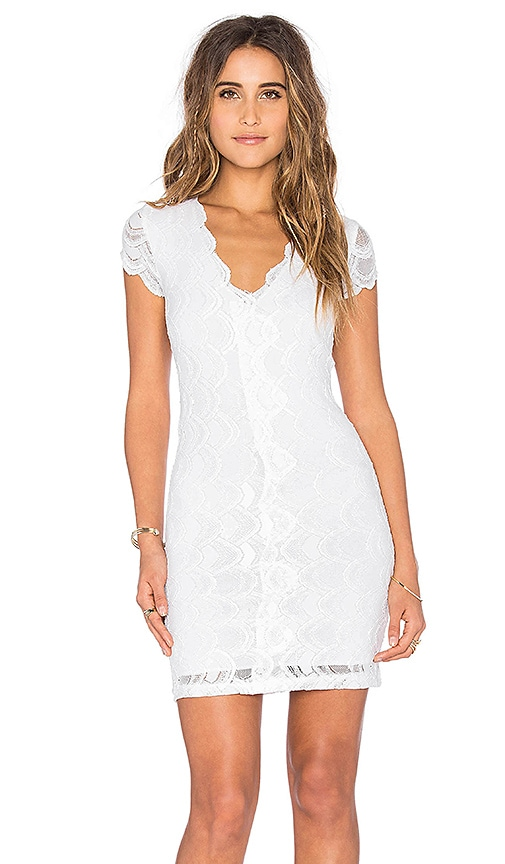 Nightcap Victorian Lace Cap Sleeve Dress in White