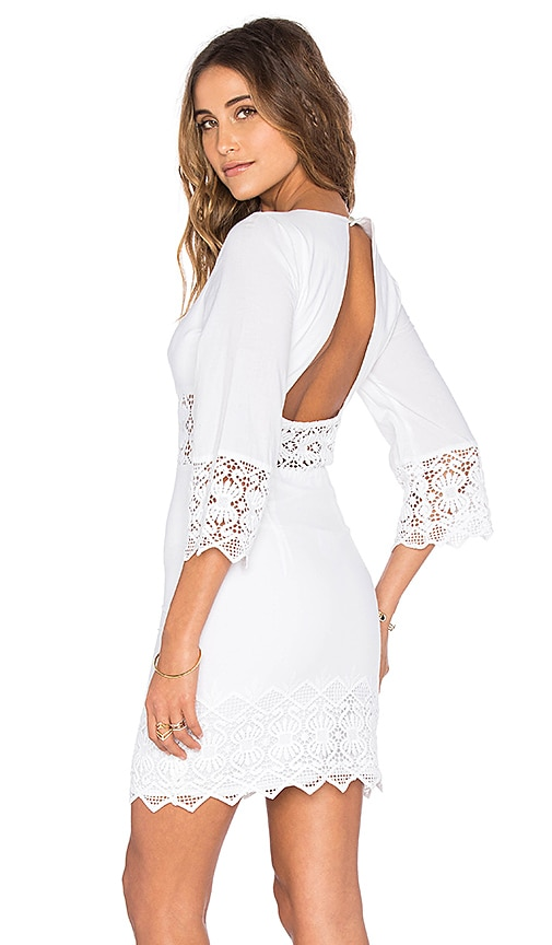 Nightcap Tulum Cutout Dress in White