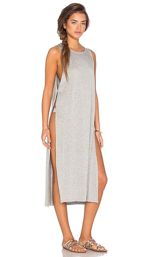 Nightcap Side Knot Maxi Dress in Heather