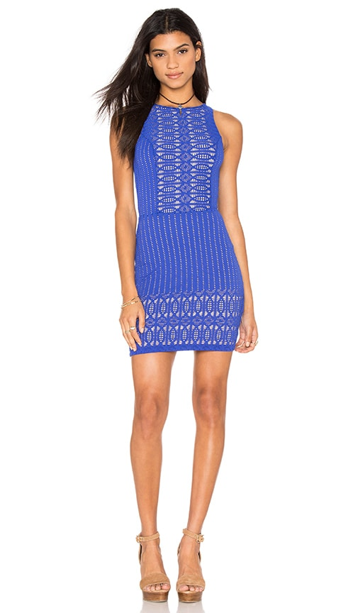 Nightcap Spiral Lace Sport Dress in Blue