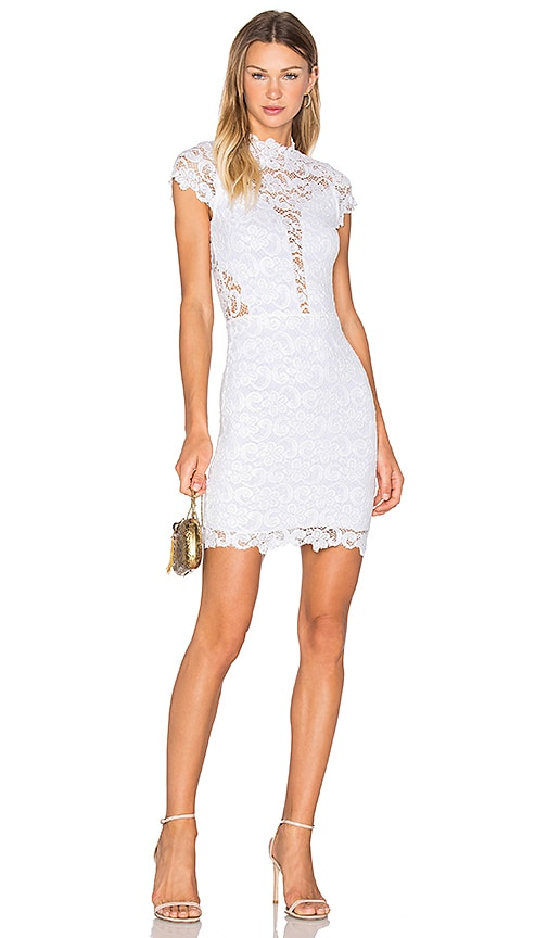 Nightcap Dixie Lace 16th District Mini Dress in White