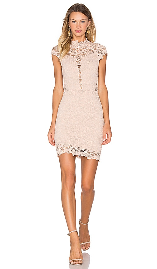 Nightcap Dixie Lace 16th District Mini Dress in Blush