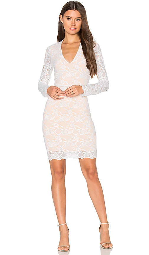 Wisteria Lace Deep V Dress