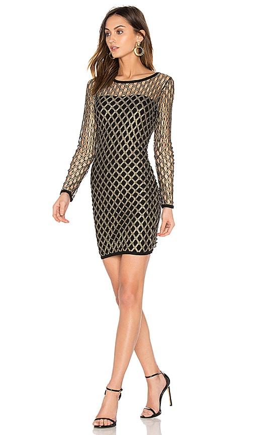 Nightcap Pyrite Mini Dress in Metallic Gold