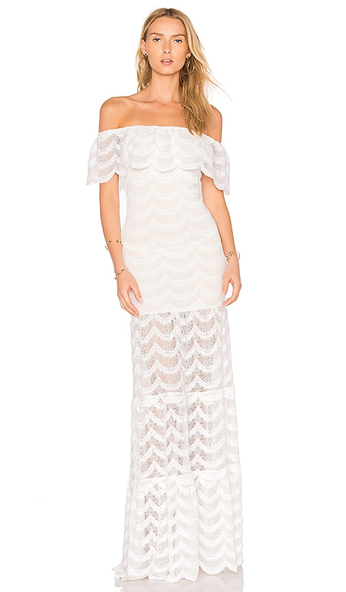 Nightcap Fiesta Positano Maxi Dress in White