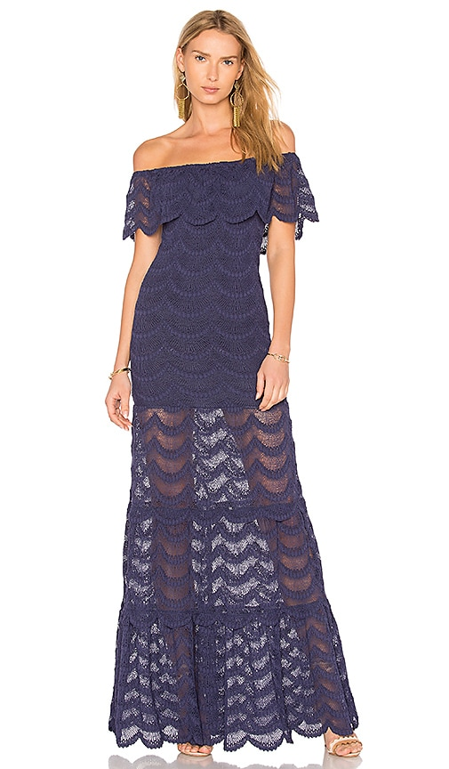 Nightcap Fiesta Positano Maxi Dress in Navy