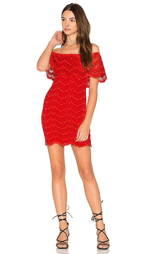 Nightcap Bachelorette Mini Dress in Red