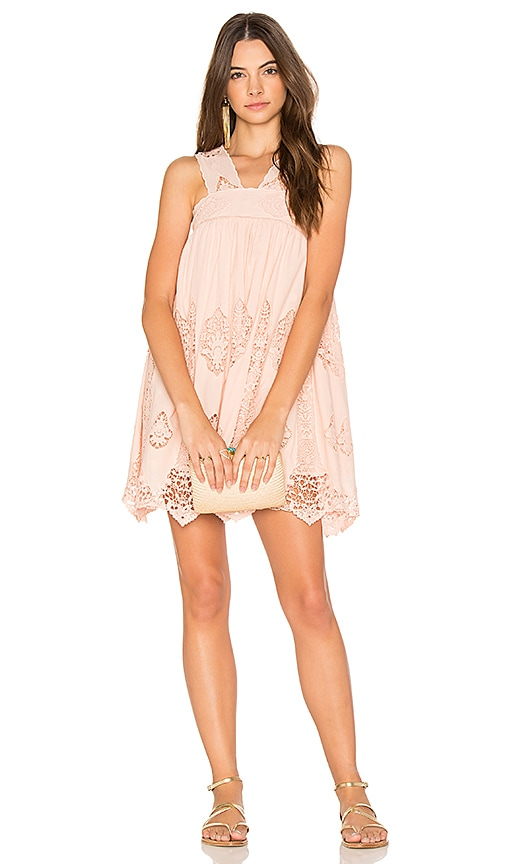 Nightcap Pixie Mini Dress in Blush