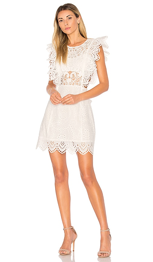 Eyelet Apron Mini Dress