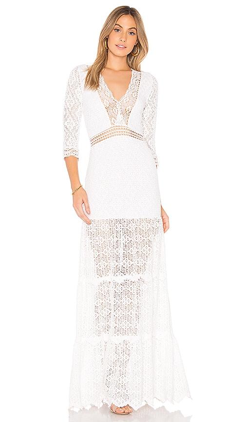 NIGHTCAP The Hazel Gown in White