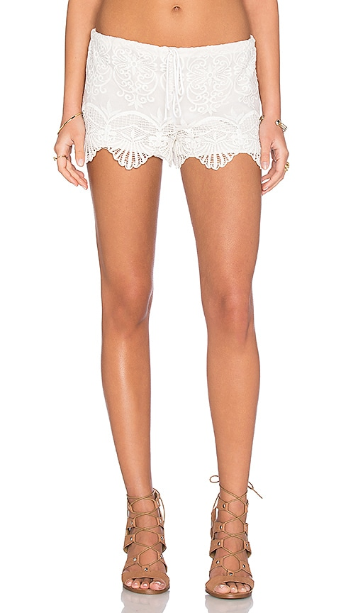 Nightcap Seashell Lace Short in White