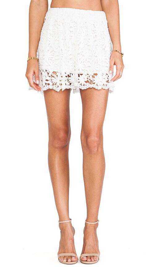 Daisy Crochet Flare Short