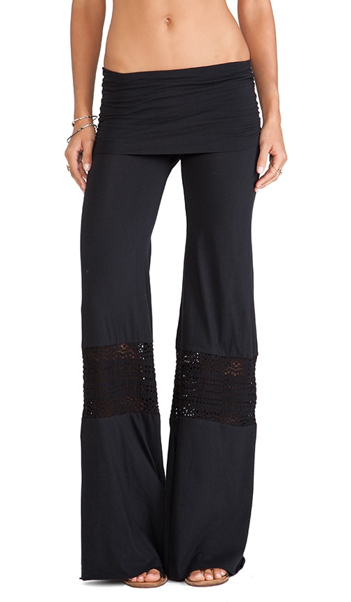 Nightcap Crochet Beach Pants In Black Revolve