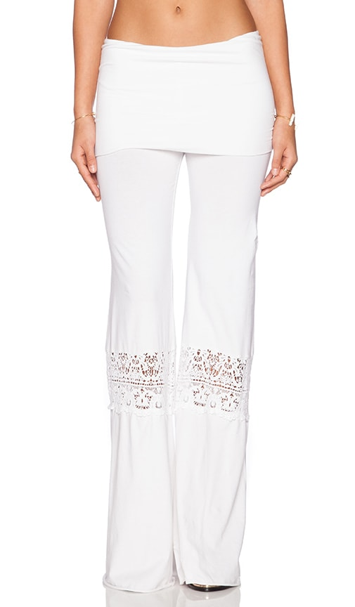 Nightcap Crochet Beach Pants In White Revolve