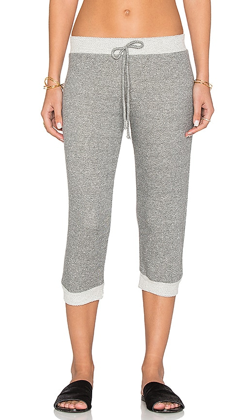 Nightcap Cropped Terry Sweatpants in Gray