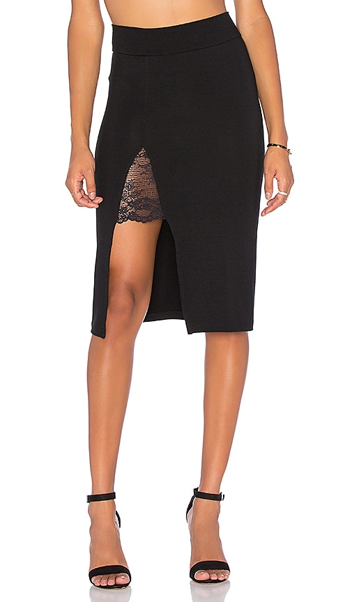 Nightcap Garder Pencil Skirt in Black