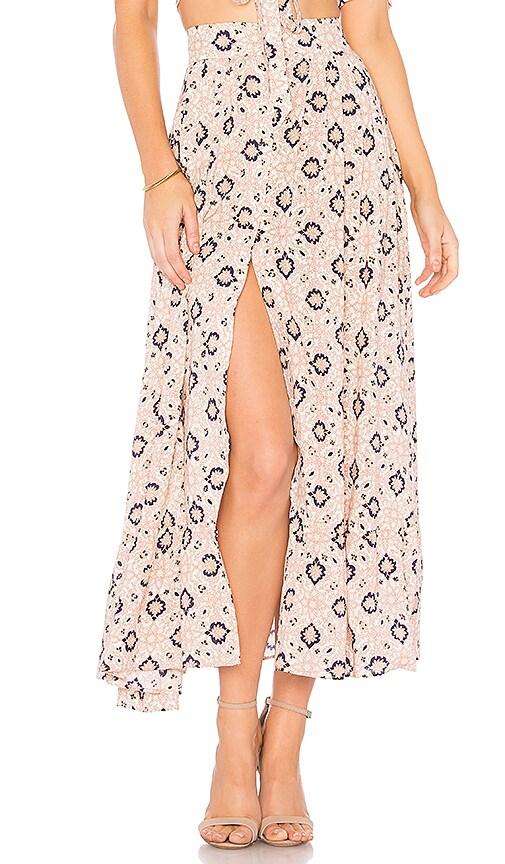 NIGHTCAP Moroccan Tile Skirt in Pink