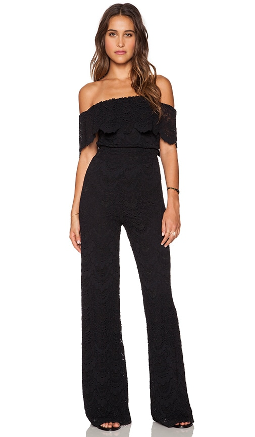 22dd1ce1fc Nightcap Spanish Off Shoulder Jumpsuit in Black
