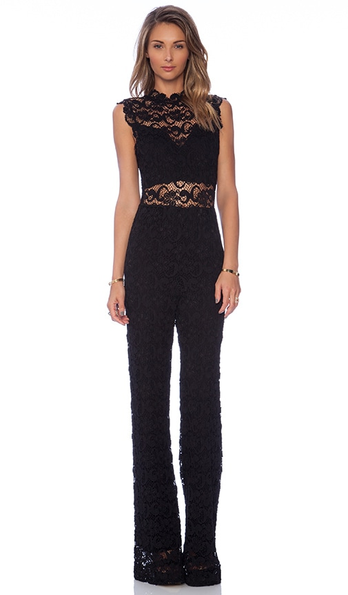 111e26aa74bd47 Nightcap Dixie Lace Catsuit in Black