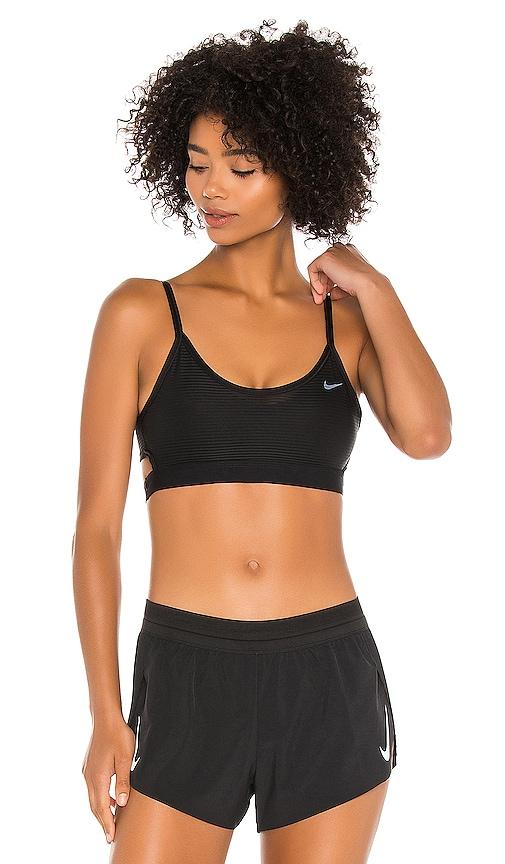 Nike Shadow Stripe Indy Sports Bra In Black White Revolve