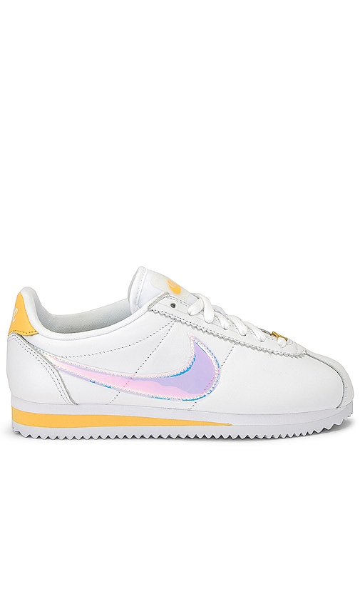 sports shoes c0fd8 1a810 Nike Classic Cortez Sneaker in White, Clear, Topaz & Gold ...