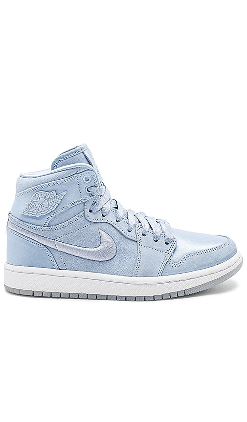 4b9a880d4bc850 Nike Air Jordan 1 Retro High SOH in Hydrogen Blue   White Metallic ...