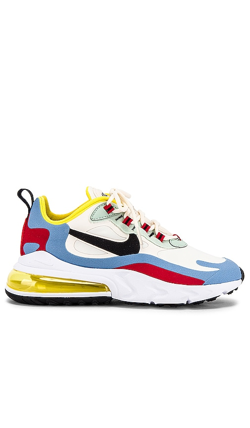 Nike Air Max 270 React Sneaker in Yellow, Light Blue, Red