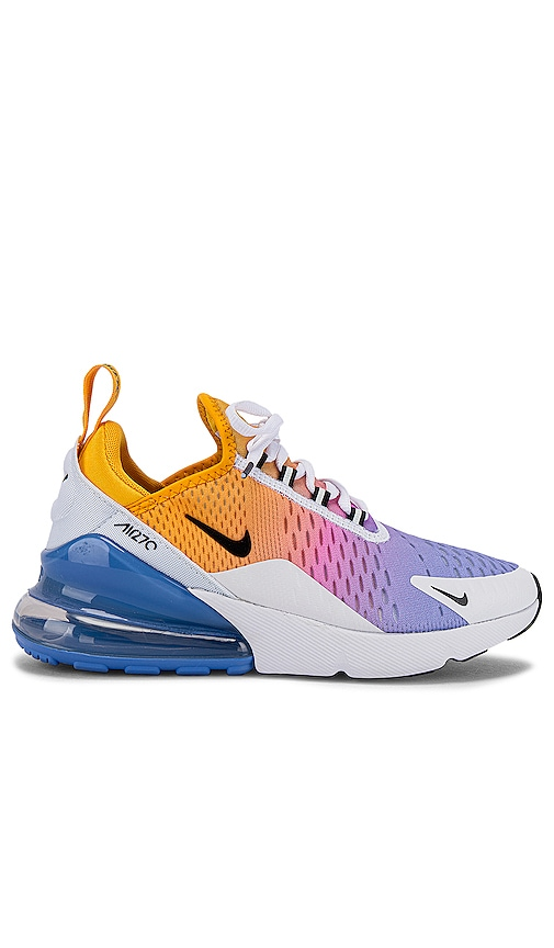 Nike Women S Air Max 270 Sneaker In University Gold Black