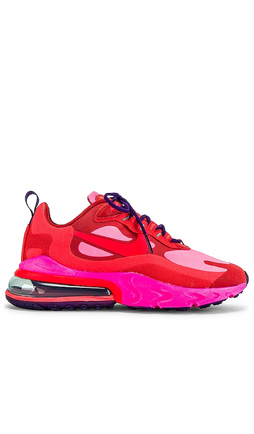 Nike Air Max 270 React Sneaker In Mystic Red Burnt Crimson Pink Blast Habanero Red Court Modesens