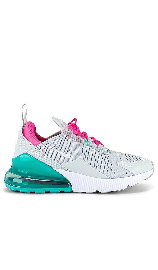 Nike Air Max 270 Sneaker In Pure Platinum White Pink Blast