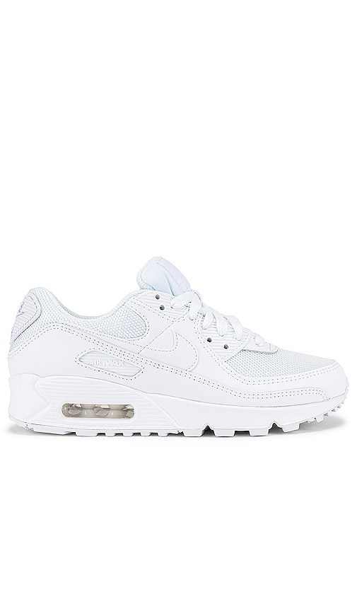 Nike Air Max 90 365 Sneaker In White Wolf Grey Revolve