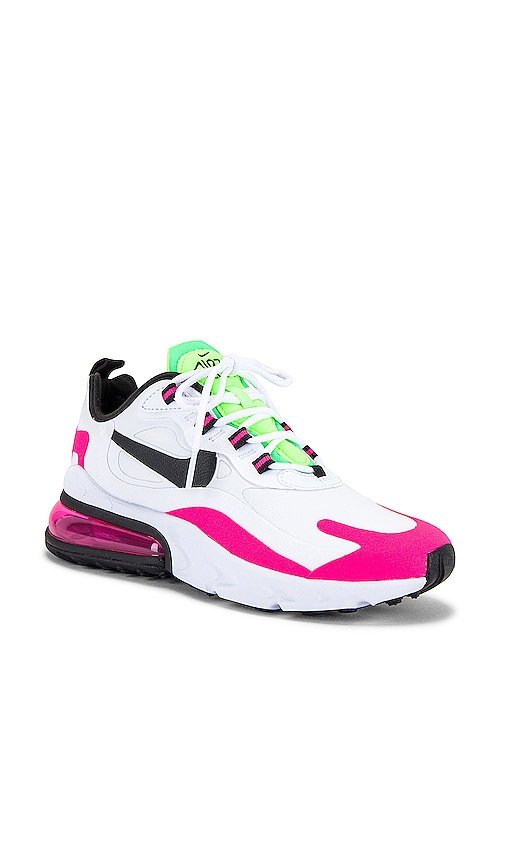 Nike Air Max 270 React Sneaker In Hyper Pink Blast Ghost Green