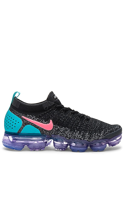 31515833653f1 Nike Air Vapormax Flyknit 2 Sneaker in Black, Hot Punch & White ...