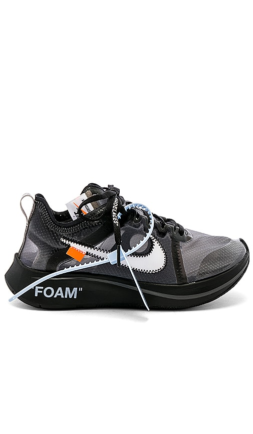 584548ce523a8 Nike x OFF-WHITE Zoom Fly in Black   White Cone Black