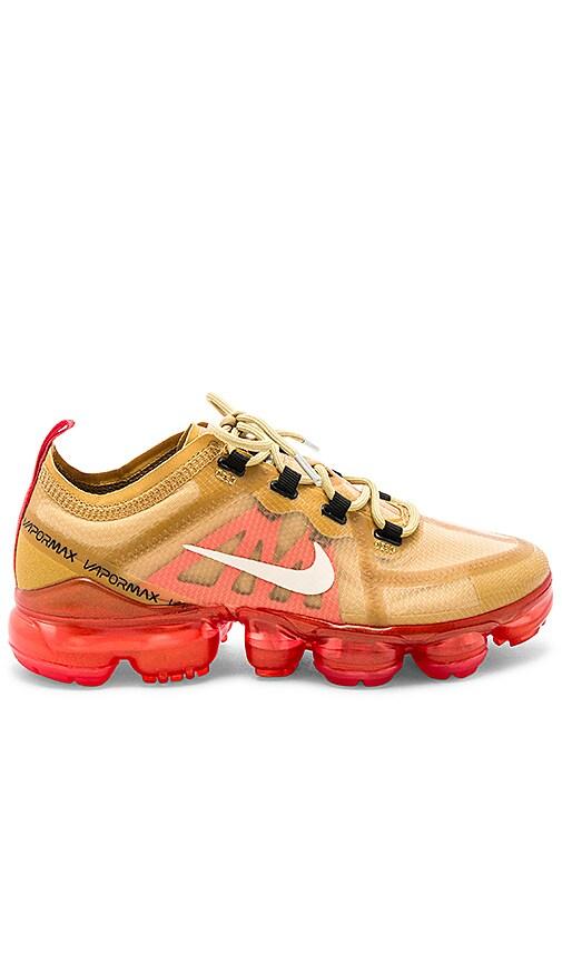 3752193c83 Nike Air Vapormax 2019 Sneaker in Club Gold & Light Cream | REVOLVE