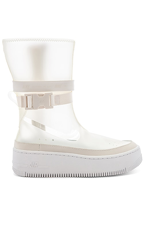 innovative design c1d28 2f3f6 Nike Women's AF1 Sage HI LX Boot in Phantom & White | REVOLVE