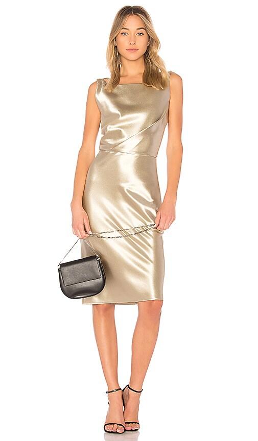 NILI LOTAN Anne Dress in Metallic Gold