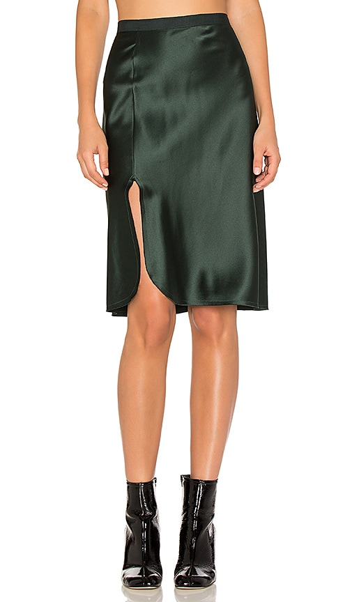NILI LOTAN Lillie Skirt in Dark Green