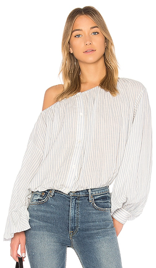 NILI LOTAN Roxie Blouse in White