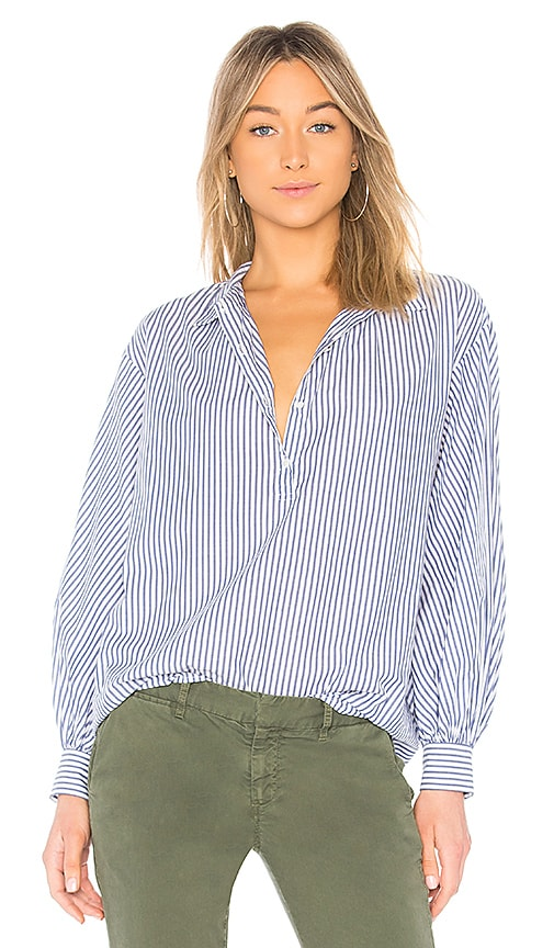 NILI LOTAN Claira Top in Blue