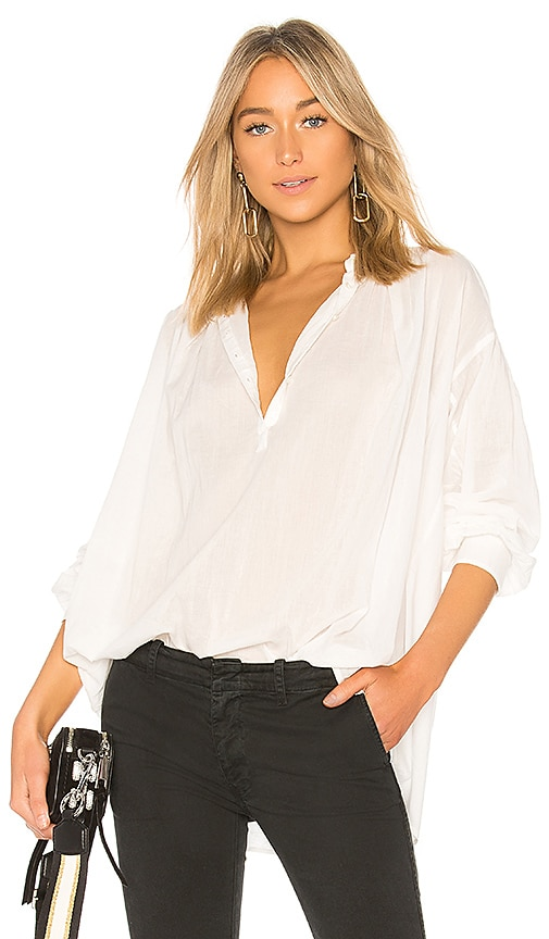 NILI LOTAN Miles Blouse in White