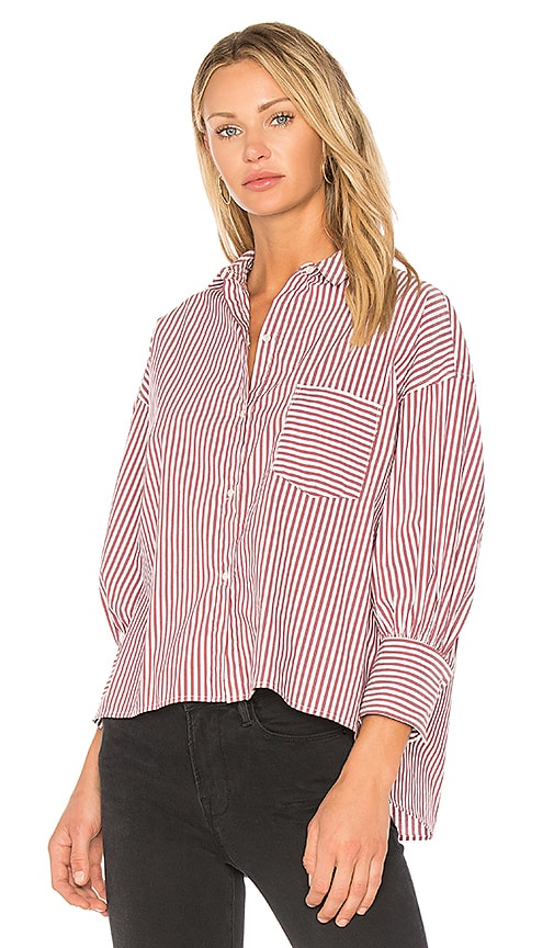 NILI LOTAN Filmore Shirt in Burgundy
