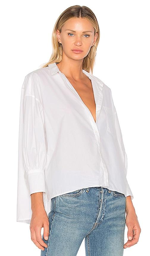 NILI LOTAN Filmore Shirt in White