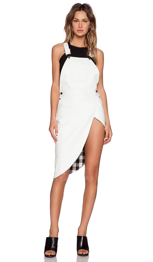 White Knight Overall Dress