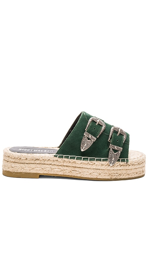 Nightwalker El Mono Sandals in Bottle Green