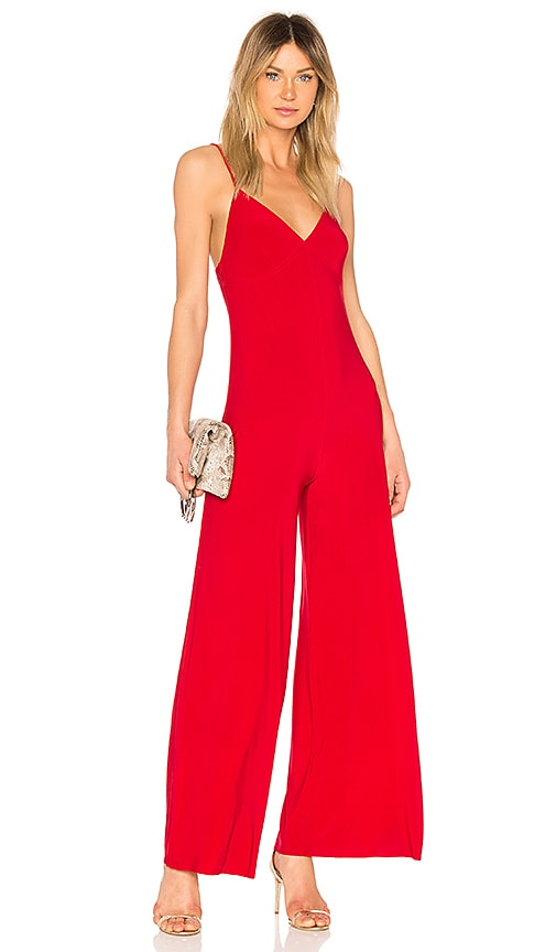 Norma Kamali Slip Jumpsuit in Red